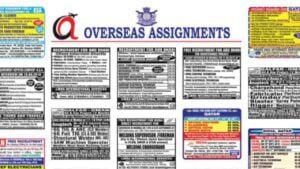 Assignment Abroad Times Today News Paper Jobs