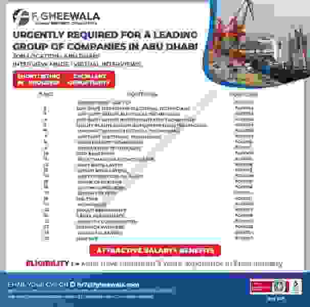 A Leading Group of Companies Jobs in Abu Dhabi 2021
