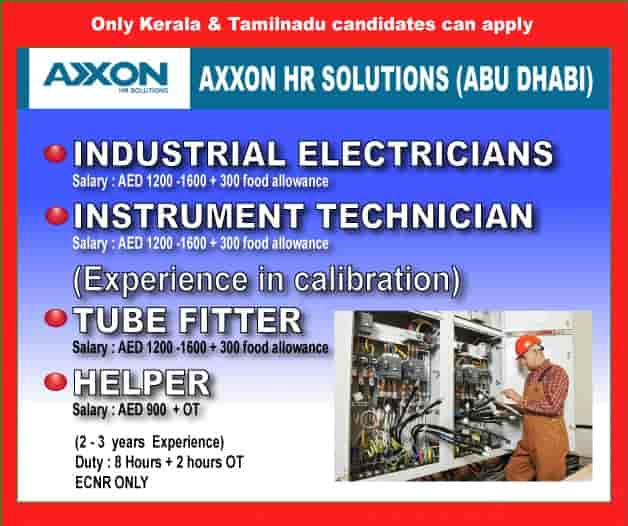 Abu Dhabi Jobs Alert Only Kerala And Tamilnadu Candidates Can apply