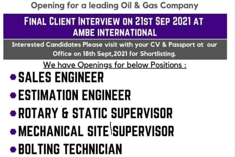 Oman Jobs Alert Required Long-Term Shutdown for a Leading Oil and Gas Co. 2021