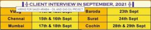 today saudi arbia interview date